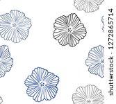 dark blue vector seamless...   Shutterstock .eps vector #1272865714