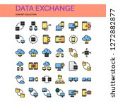 sync and data exchange icons...