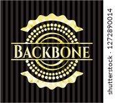 backbone shiny emblem | Shutterstock .eps vector #1272890014