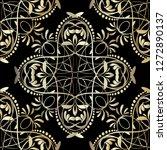 vintage line art tracery floral ...   Shutterstock .eps vector #1272890137