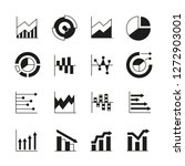 graph and chart icons | Shutterstock .eps vector #1272903001