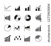 graph and chart icons | Shutterstock .eps vector #1272903004