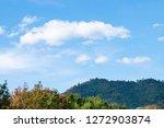blue sky and beautiful cloud... | Shutterstock . vector #1272903874