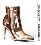 a metallic rose gold high heel...   Shutterstock . vector #1272908407