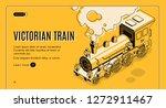 railway transport history... | Shutterstock .eps vector #1272911467