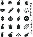 solid black vector icon set  ... | Shutterstock .eps vector #1272932854