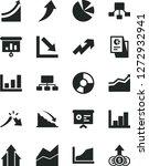 solid black vector icon set  ... | Shutterstock .eps vector #1272932941