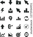 solid black vector icon set  ... | Shutterstock .eps vector #1272934951