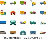color flat icon set   auto... | Shutterstock .eps vector #1272939574