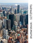 manhattan  new york city. usa. | Shutterstock . vector #127294391