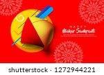 indian kite festival makar...   Shutterstock .eps vector #1272944221