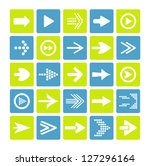 arrow sign icon set | Shutterstock .eps vector #127296164