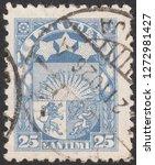 latvia circa 1926 a stamp... | Shutterstock . vector #1272981427