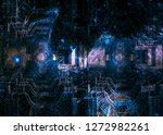 futuristic collage of a space... | Shutterstock . vector #1272982261