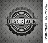 blackjack realistic dark emblem | Shutterstock .eps vector #1272999967