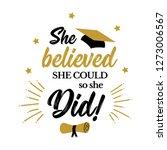 congrats graduates  class of... | Shutterstock .eps vector #1273006567
