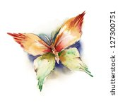 watercolor butterfly | Shutterstock . vector #127300751