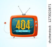 retro tv not found broadcasting ... | Shutterstock . vector #1273023871