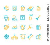 household and cleaning tools... | Shutterstock . vector #1273023877