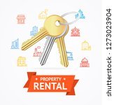 realistic detailed keys to... | Shutterstock . vector #1273023904
