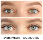 young woman before and after... | Shutterstock . vector #1273027207