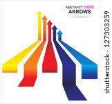 colored arrows vector. eps10 | Shutterstock .eps vector #127303259
