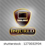 golden emblem with laptop icon ... | Shutterstock .eps vector #1273032934
