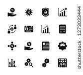vector illustration of 16 icons.... | Shutterstock .eps vector #1273033444