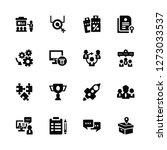 vector illustration of 16 icons....   Shutterstock .eps vector #1273033537