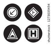 4 vector icon set   keep left ... | Shutterstock .eps vector #1273035454