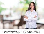 business woman smiling | Shutterstock . vector #1273037431