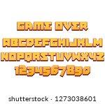 typeface game logo tittle text... | Shutterstock .eps vector #1273038601