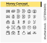 money concept icons design ... | Shutterstock .eps vector #1273046041