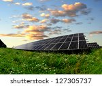 solar energy panels in the... | Shutterstock . vector #127305737