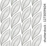 vector simple seamless elegant... | Shutterstock .eps vector #1273059604