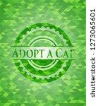 adopt a cat green emblem.... | Shutterstock .eps vector #1273065601