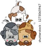 three cute puppies  | Shutterstock .eps vector #1273065967