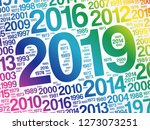 2019 happy new year and... | Shutterstock .eps vector #1273073251