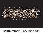 leopard slogan graphic | Shutterstock .eps vector #1273096534