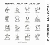 rehabilitation for disabled... | Shutterstock .eps vector #1273109464