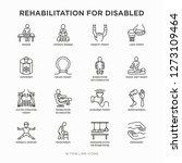 rehabilitation for disabled...   Shutterstock .eps vector #1273109464