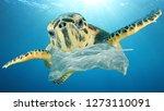 plastic pollution environmental ... | Shutterstock . vector #1273110091
