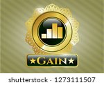gold shiny emblem with chart... | Shutterstock .eps vector #1273111507
