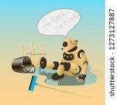 vector cartoon character beige... | Shutterstock .eps vector #1273127887