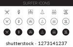 surfer icons set. collection of ... | Shutterstock .eps vector #1273141237