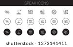 speak icons set. collection of...