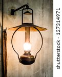 Petroleum Lamp  At A Stable