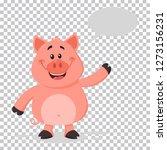 happy pig cartoon character... | Shutterstock . vector #1273156231