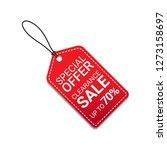 red sale tag special offer... | Shutterstock .eps vector #1273158697