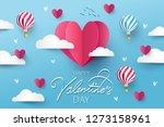 happy valentines day festive... | Shutterstock .eps vector #1273158961